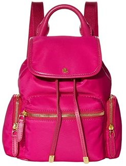 Keely 17 Soft Nylon Backpack Small (Deep Fuchsia) Backpack Bags