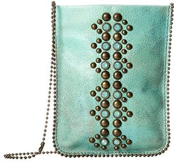 Cell Pouch/Crossbody (Turquoise/Amber) Bags