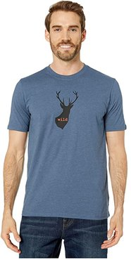 Buck Wild Journeyman (Denim Heather) Men's T Shirt