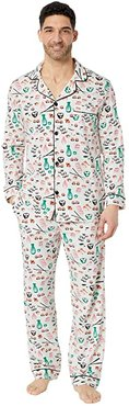 Long Sleeve Classic Pajama Set (Sushi) Men's Pajama Sets