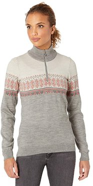 Hovden Sweater (Light Charcoal/Coral/Dark Charcoal) Women's Sweater