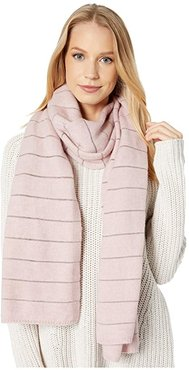 Lurex Striped Scarf (Pink Crystal) Scarves