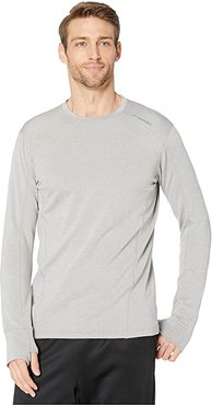 Notch Thermal Long Sleeve Shirt (Heather Ash) Men's Long Sleeve Pullover