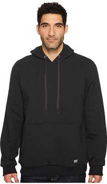 Double-Duty Hooded Pullover (Jet Black) Men's Long Sleeve Pullover