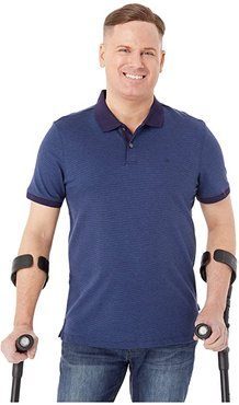 The Liquid Touch Polo Feeder Stripe (Maritime Blue Combo) Men's Clothing