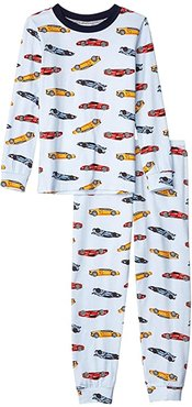 Crew Long Sleeve Top Pants Set (Toddler) (Super Cars) Boy's Pajama Sets