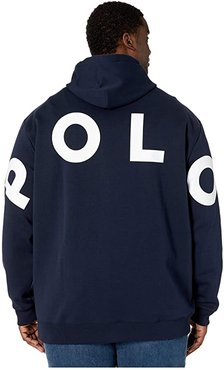 Double Knit Tech Hoodie (Aviator Navy Multi) Men's Clothing