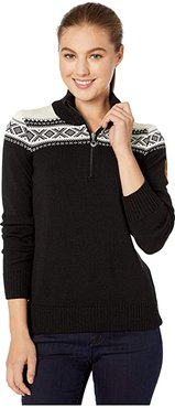 Cortina Merino Feminine Sweater (Black/Off-White) Women's Clothing