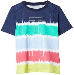 Hardy Tee with VELCRO(r) Closure at Shoulders (Little Kids/Big Kids) (Peacoat/Multi) Men's T Shirt
