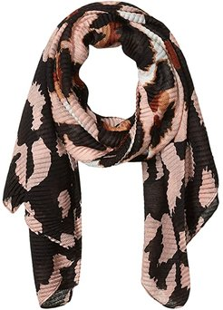 Oversized Leopard Pleated Day Wrap (Blush) Scarves