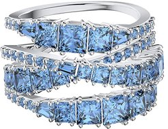 Twist Wrap Ring (Blue) Ring