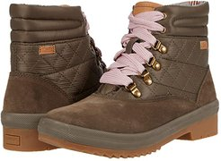 Camp Boot Suede Quilted Nylon WX (Bungee Cord Olive) Women's Shoes