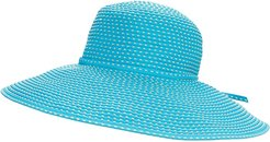 RBL205 Ribbon Crusher Hat with Ticking Sun Hat (Turquoise) Traditional Hats