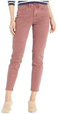 Solid Cool Twill Olivia Slim Ankle (Rosewood) Women's Casual Pants