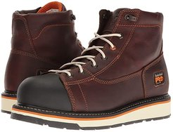 Gridworks 6 Alloy Safety Toe Boot (Red/Brown Full-Grain Leather) Men's Work Boots