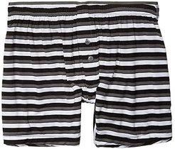 Modal Knit Boxer (Bold Stripe/Black) Men's Underwear