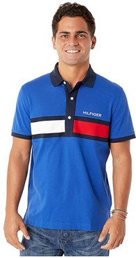 Polo Shirt with Magnetic Buttons Custom Fit (Mazzarine Blue) Men's Clothing
