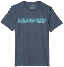 Forest Tee Short Sleeve (Navy Heather) Men's Clothing