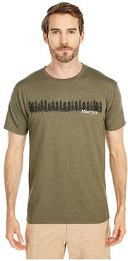Forest Tee Short Sleeve (Olive Heather) Men's Clothing