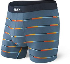 Undercover Boxer Brief Fly (Blue Flag Stripe) Men's Underwear