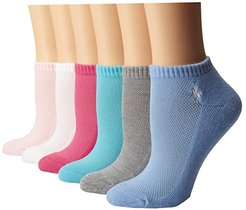 Cushion Sole Mesh Top Low Cut 6 Pack (Pastel (Pinks/Blues/Grey/White)) Women's Low Cut Socks Shoes