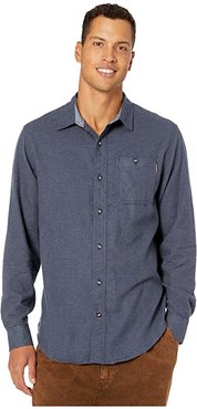 Woodfort Mid-Weight Flannel Work Shirt (Navy Heather) Men's Clothing