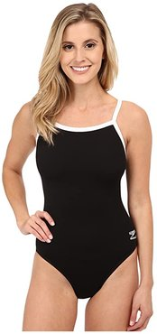 Endurance+ Flyback Training Suit (Black) Women's Swimsuits One Piece