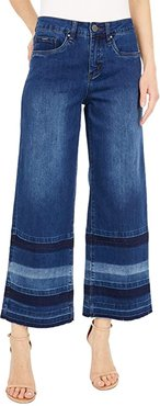 Statement Denim Olivia Wide Leg Crop in Dark Indigo (Dark Indigo) Women's Jeans