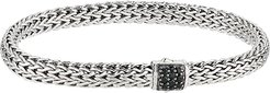 Classic Chain 6.5mm Bracelet with Black Sapphire (Silver) Bracelet