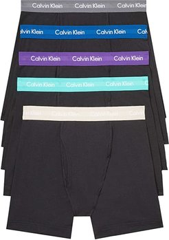 Cotton Stretch Multipack Boxer Brief (Black Body/Verbena/Grey Shadow/Crater Lake/Oatmeal Heather/Amazo) Men's Underwear