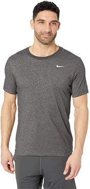 Dry Tee Dri-FIT Cotton Crew Solid (Black Heather/Matte Silver) Men's T Shirt