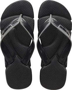 Power Flip Flops (Black/Steel Grey) Men's Sandals