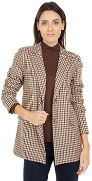 Reality Check Blazer with Front Darts (Brown Multi) Women's Jacket