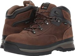 Euro Hiker Alloy Safety Toe Waterproof (Brown Full Grain Leather) Men's Hiking Boots