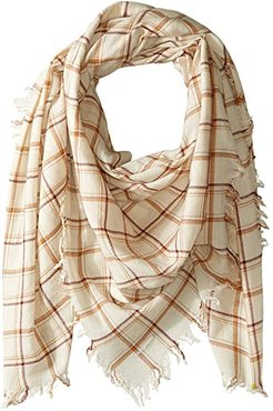 100% Wool Plaid Scarf (Seed Pearl Mix) Scarves