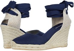 Tall Wedge Espadrille (Midnight Blue) Women's Shoes