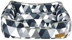 24 x 19 x 7 Lounge Bed - Mosaic (Tuxedo) Dog Accessories