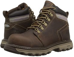 Ellie Steel Toe (Dark Beige) Women's Work Lace-up Boots
