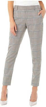 Kelsey Trousers (White/Tan/Blue Houndstooth Plaid) Women's Casual Pants