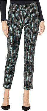Pull-On Ankle Pants (Turquoise Shadows) Women's Dress Pants