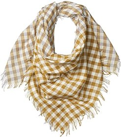 100% Cotton Woven Square Gingham Scarf (Dapple Grey) Scarves