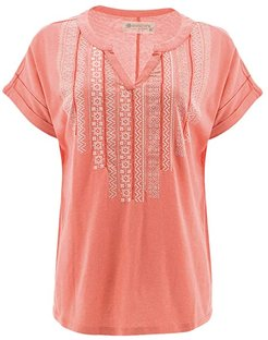 Forlani Short Sleeve (Burnt Coral) Women's T Shirt