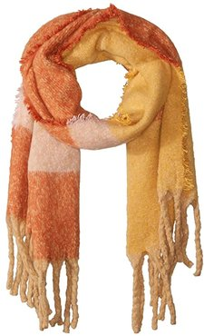 Ultra Soft Color Block Blanket Wrap (Mustard) Scarves