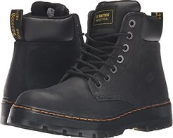 Winch Service 7-Eye Boot (Black Wyoming) Men's Work Lace-up Boots
