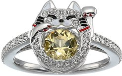 Sparkling Dance Cat Ring (Ceramic Canary Yellow) Ring