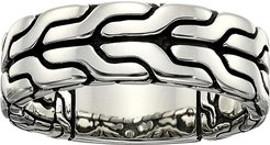 Classic Chain Band Ring 8mm (Silver) Ring