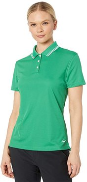Dry Victory Polo Short Sleeve Solid (Classic Green/White/White) Women's Clothing