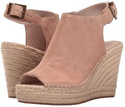 Olivia (Almond Suede) Women's Wedge Shoes