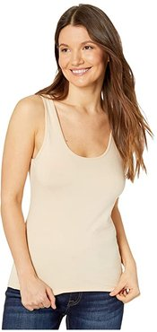 Stretch Layering Scoop Tank Top (Nude) Women's Clothing