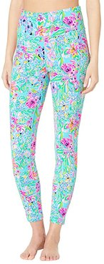 High-Rise Leggings (Amalfi Blue Alligator Isle) Women's Casual Pants